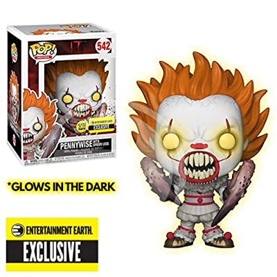 Funko Pop! Movies: IT - Glow in The Dark Pennywise with Spider Legs pop Vinyl - .45mm Pop Protector Included: Toys & Games