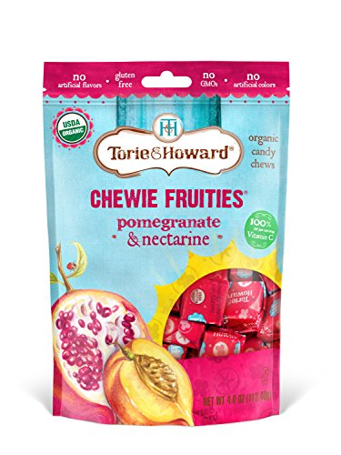 Torie & Howard Chewie Fruities Organic Candy Pomegranate & Nectarine, 4 Ounce Bag ()