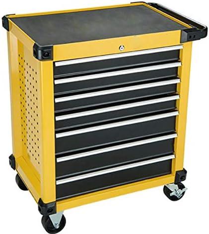 工具カート 引き出し自動車修理多機能トロリー付き引き出しハードウェアモバイル修復ツールカートツールボックスツールカート キッチン 車庫 (Color : Yellow, Size : 87x51x78cm)