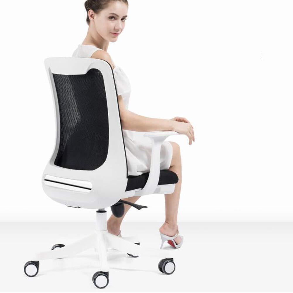 WYYY stolar kontorsstol nät svängbar stol verkställande justerbar ländrygg stöd dator skrivbord stol hållbar stark (färg: Grön) Svart