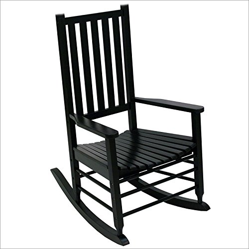 Hinkle Chair Company Alexander Mid-Sized Adult Rocking Chair, Black (Black Outdoor Rocking Chair compare prices)