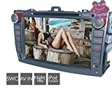 2 DIN Car Stereo DVD Player/In Dash Navigator for Toyota Corolla 2007-2012, with iPod/iPhone Music Wireless Play/SWC/DVR/1080P Movie Playback/Button Key Light