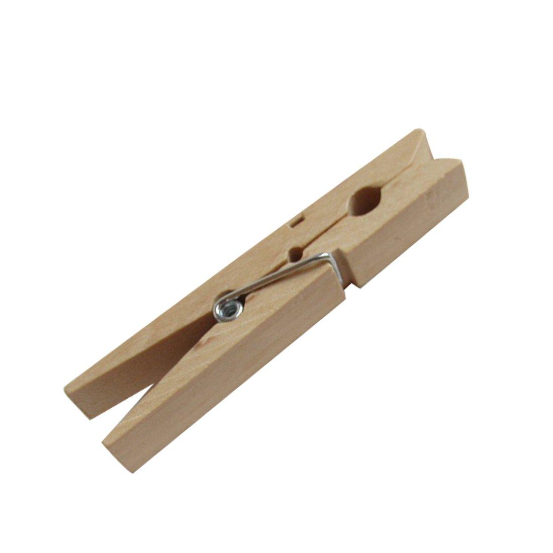48 Stück Mini-Holzwäscheklammern 2,5 cm gemischt