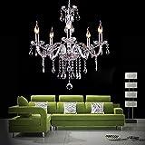 DEALKOO Chandelier Lighting Crystal Chandeliers 21.5″ x 35.1″ 5 Lights For Sale
