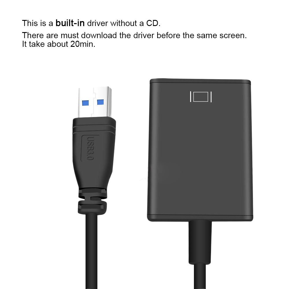 USB to HDMI HUB USB3.0 to HDMI Adapter 1080P HD Video Audio Multi Monitor Converter for Laptop HDTV TV PC with Windows 10 // 8.1 // 8 // 7 Only No MAC /& Vista