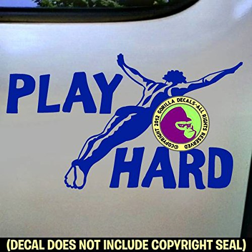 PLAY HARD Springboard Diver MALE Vinyl Decal Sticker D