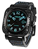 LUM-TEC G2 Men's Black/Blue Watch