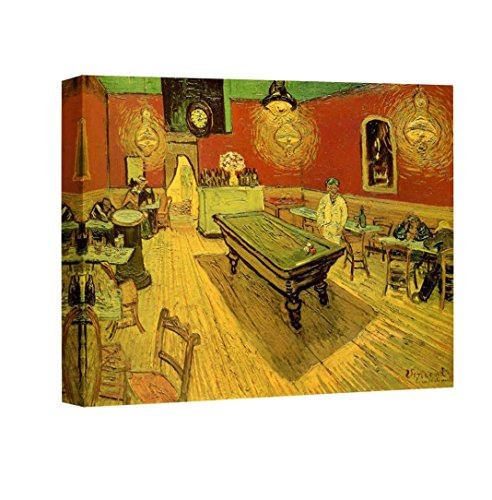 Tavern Canvas Art - Eliteart-The Night Cafe With Pool Table By Vincent Van Gogh Giclee Art Canvas Prints