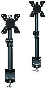 Monoprice Adjustable Tilting Desk Mount Bracket for LCD LED (Max 33Lbs, 13~30inch) - Black