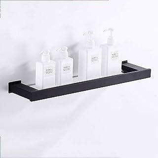 YISHUAISWJ Estante de Ducha Acero Inoxidable Perforador Libre Estante del Cuarto de baño Aparador Cómoda Cómoda Marco de Espejo de Vidrio Templado Estante Individual Garantía de Calidad
