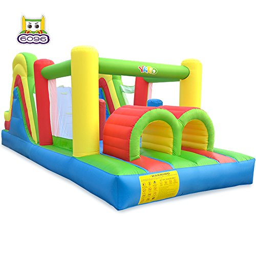 YARD Giant Inflatable Obstacle Course with Large Climbing Wall Slide Super Combo Bounce House 6 in 1 with Blower 21.3'x9.2'x7.9'