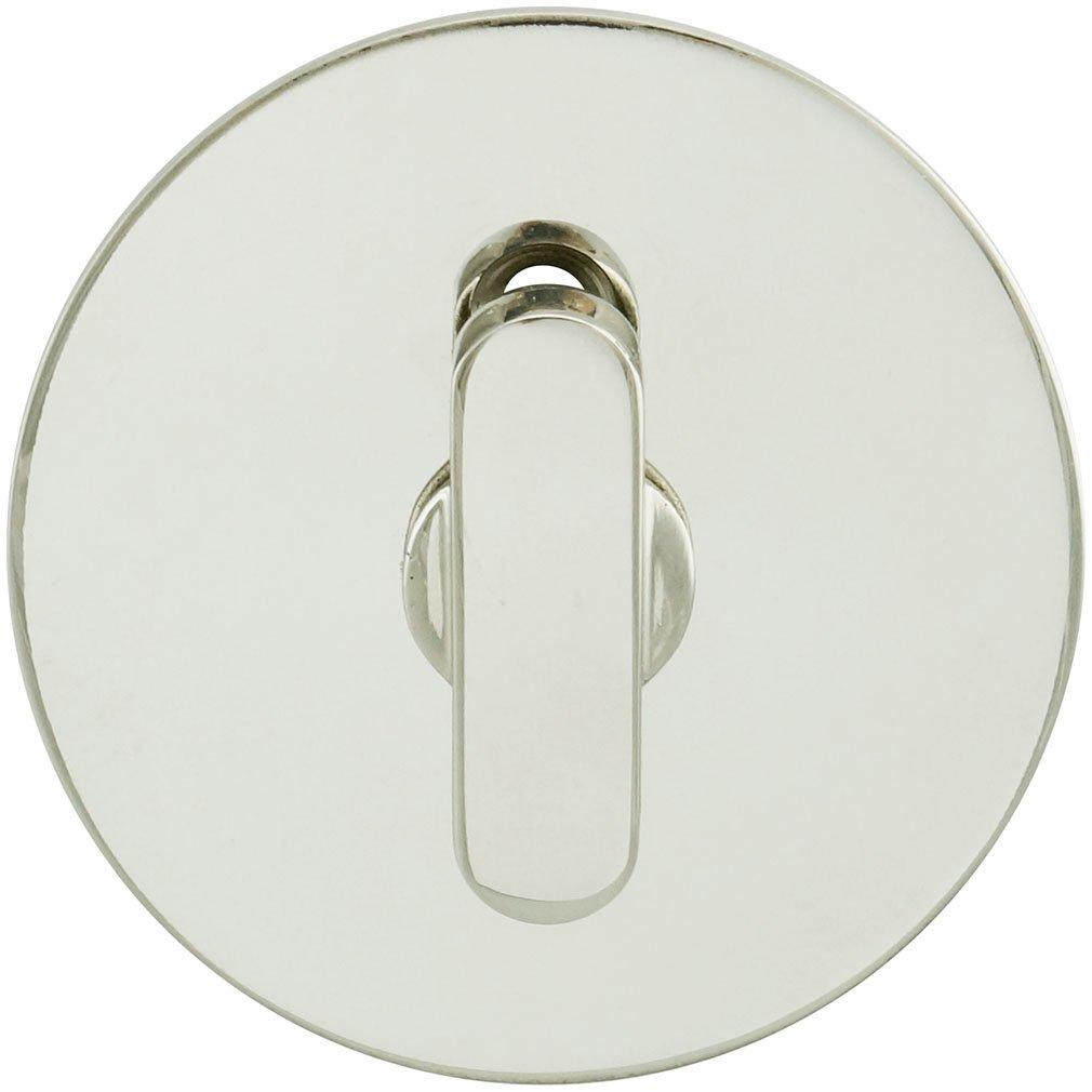 Round Rose INOX EC1216-BD4214-19G Barn Door Privacy Lock Graphite Black 2-1//4 BS 2.25 Face TT16 Turn 2.25 Face 2-1//4 BS 19G