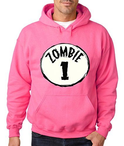 Halloween Zombie #1 Group Costume Hoodie Funny Halloween Sweatshirt Large Safety Pink h13]()