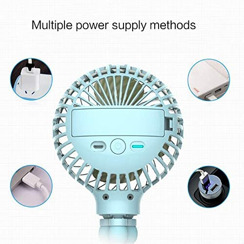 Mini Portable H/ängende Oktopus-Scheinform Stand Adjustable Handheld Usb Charging Fan Cooler F/ür Baby Stroller Student Use,Handventilator Batteriebetrieben,Mini Tragbar Wiederaufladbar,Ventilator Usb