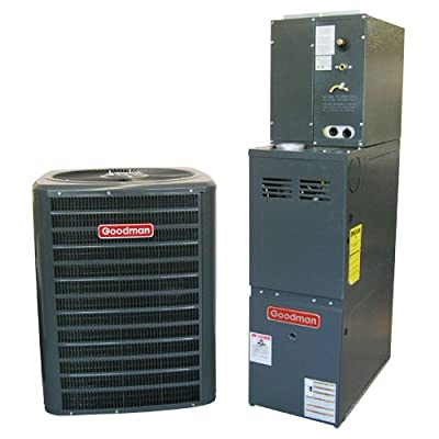 Goodman R410A 13 SEER Complete Split System AC & Gas 3.5 Ton GSX130421, CAPF3642C6, GMH80805CN