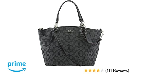 f7cd5ebcd1eb Coach OTL Signature J Small Kelsey - Black Smoke Black  Handbags  Amazon.com