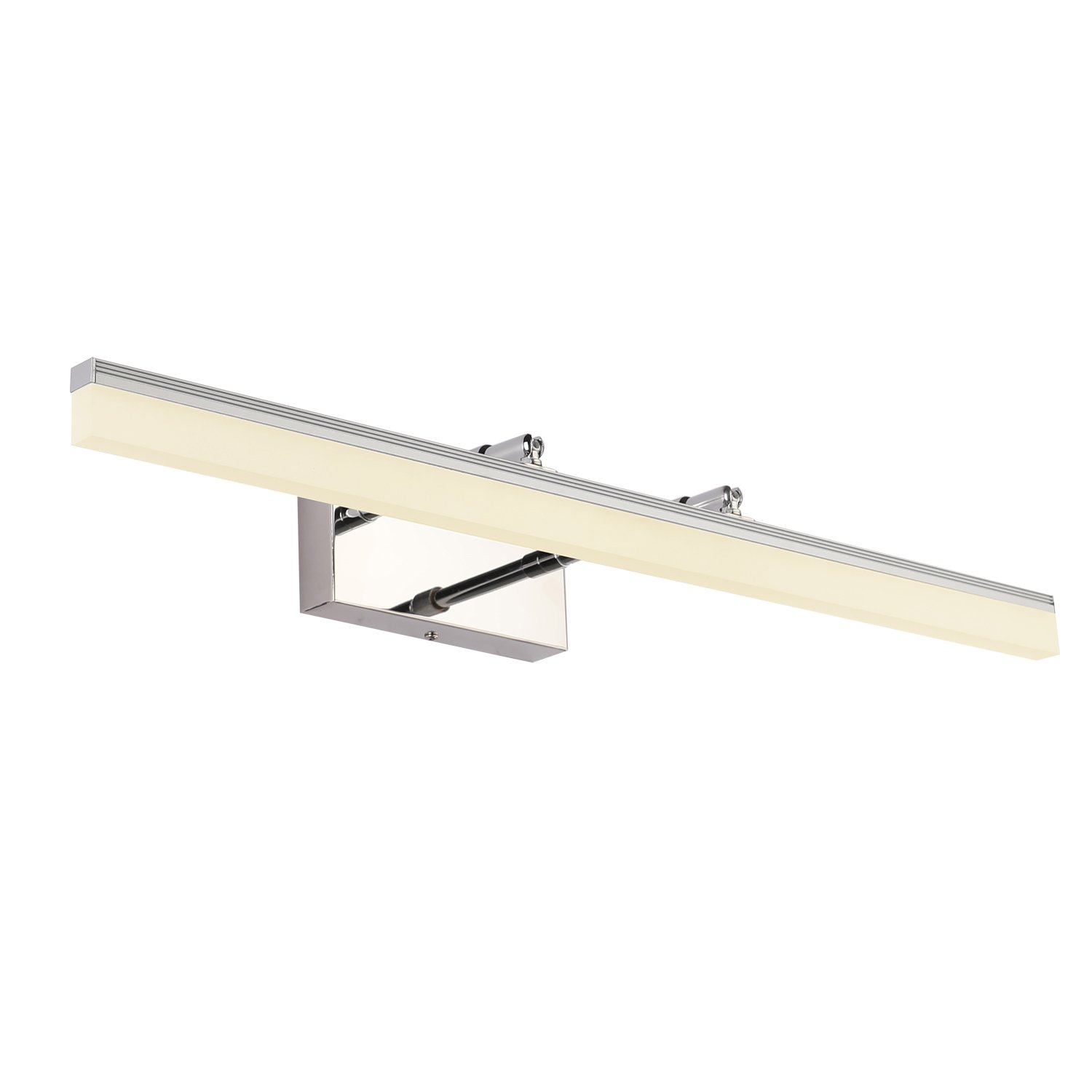 SAILUN Vanity Light Fixture 20W 36 inch Vanity Mirror Light Arm Length Adjustable Stainless Steel Acrylic Wall Light for Bathroom Dressing Room IP44 Waterproof 1650LM Warm White Light