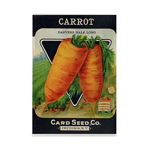 (CafePress Carrots antique seed packet Rectangle Magnet Rectangle Magnet, 2