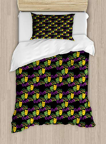 Ambesonne New Orleans Duvet Cover Set Twin Size,