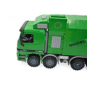 Blomiky 14.5 Inch Large Size Kids Push Toy Vehicles with 3pcs trashes inertia Automatic Lifting kids toys children gift Garbage Truck
