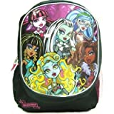 """Monster High Skull Goth Large Backpack Bag Tote 16"""" NEW STYLE"""
