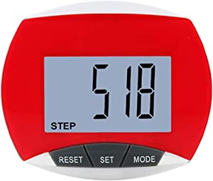 Faruxue LCD Digital Pedometer with Belt Clip, Portable Step Counting Pedometer, LCD Display Fitting Exercise Accessory for Fitness, Running, Hiking, Climbing, Traveling(Black)