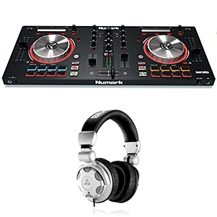 c122fedbf46 Amazon.com: Numark Mixtrack Pro 3 | USB DJ Controller with Trigger Pads  with Behringer HPX2000 Headphones: Musical Instruments
