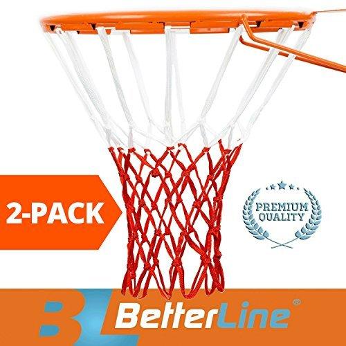 Better Line  Red de Baloncesto Profesional (2 Unidades), Todo Tipo de Clima Grueso, Resistente, Multipack – 12 Moscas (Rojo...