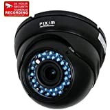 VideoSecu 1/3 Pixim WDR Vandal Dome Security Camera Infrared Outdoor Day Night Varifocal CCTV Zoom 690TVL 4-9mm Lens Home Surveillance with bonus Warning Sticker VD70H WD3