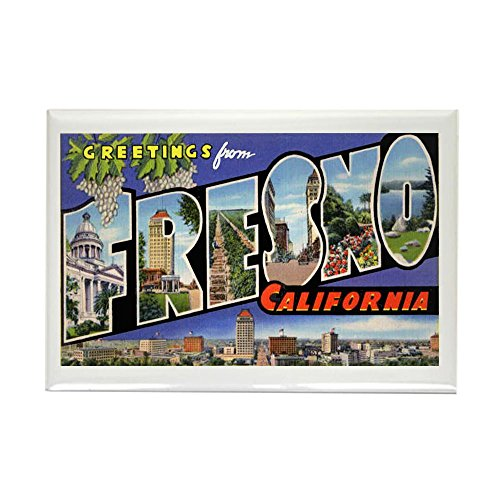 CafePress - Fresno California Greetings Rectangle Magnet - Rectangle Magnet, 2