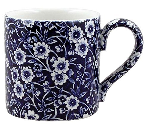Burleigh Dark Blue Calico Mug 0.3 Litre Blue