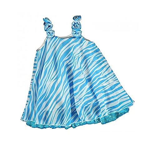 (LIPSTIK GIRLS Cool Flowy Chiffon Blue Zebra Summer Top (Size)