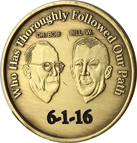 Price comparison product image Engraved AA Founders Medallion or Keychain Personalized With Date Or Initials Bill W Doctor Bob