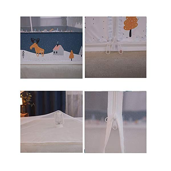 LTJTVFXQ-tarp Zanzariera yurta 1,5 Metri 1,8 m Letto 1,2 casa Tenda Anti-Caduta Completamente Chiusa con Cerniera Blu 5 spesavip