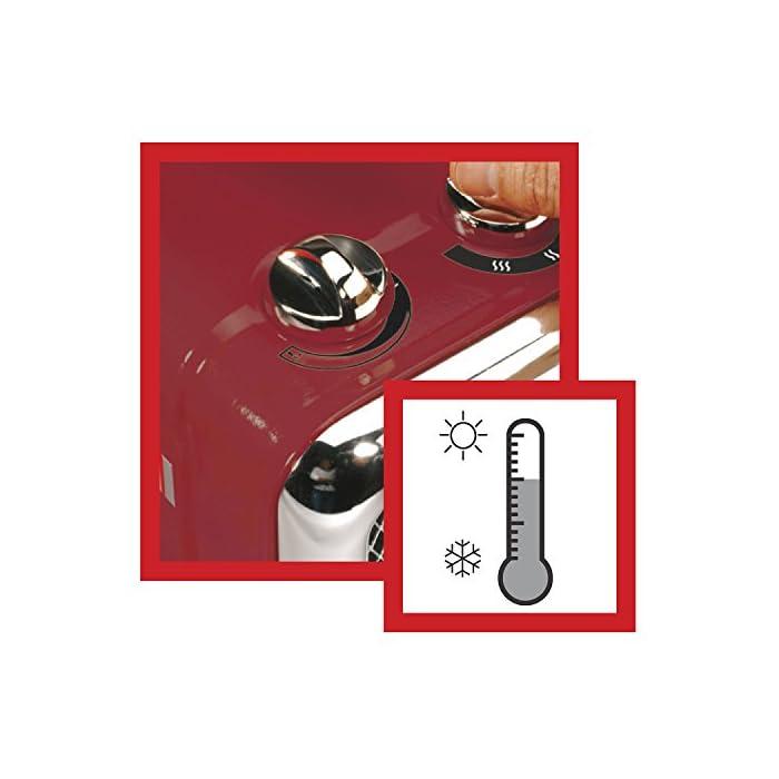 51No7VtappL Componentes incluidos: 1 ventilador Opción de 2 posiciones de calor: 1100 y 1800 vatios Tecnología de calefacción cerámica con termostato variable para garantizar una temperatura ambiente constante