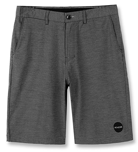 HETHCODE Men's Casual Classic Fit Hybrid Submersible Chino Walk Shorts Dark Shadow (Dark Casual Finish)