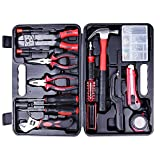 Tool Kit. Best Portable Big Basic Starter Professional Household DIY Hand Mixed Repair Set W/Plastic Storage Case For Home, Garage, Office For Men, Women. Includes Pliers, Screwdriver, Wrench, Etc.
