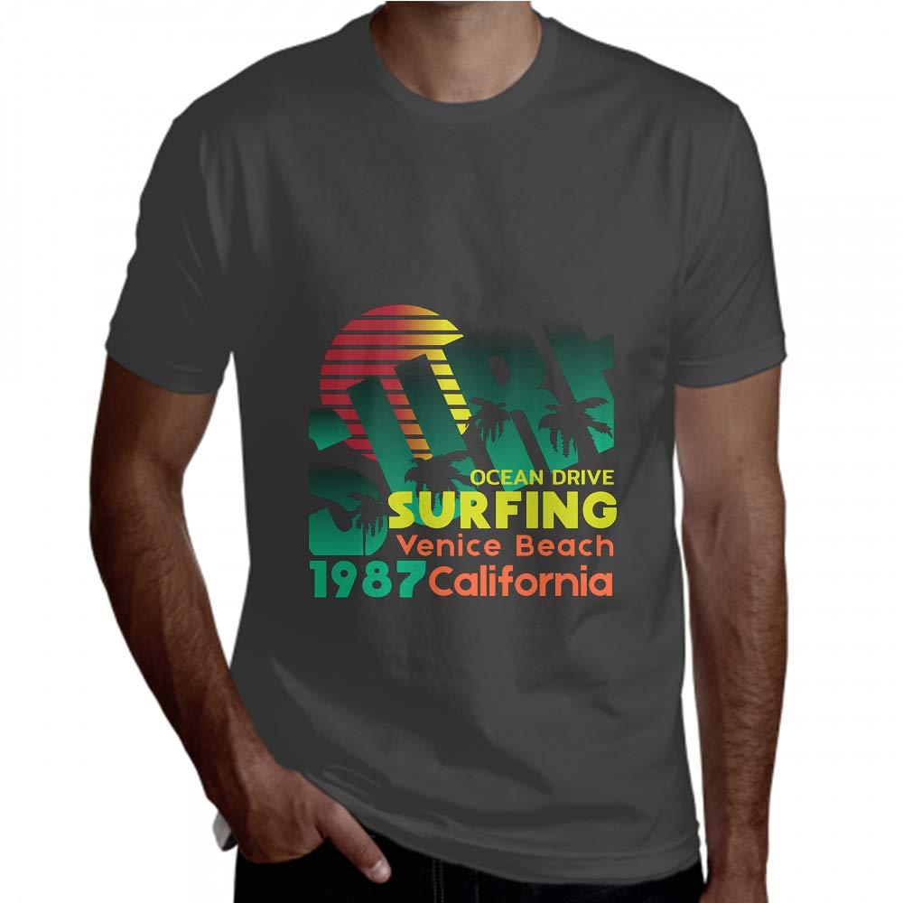 Lajro Men Shirt Short Glorious Surfing Surf 1987 Vebice Beach Men T Shirt