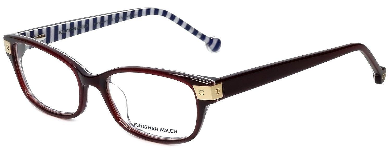 Jonathan Adler Designer Eyeglass Frames JA502-Burgundy in Burgundy 53mm