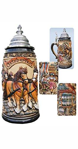 German Beer Stein Oktoberfest Munich bavaria Stein 0.5 liter tankard, beer mug ZO 1915/906 by ISDD Cuckoo Clocks