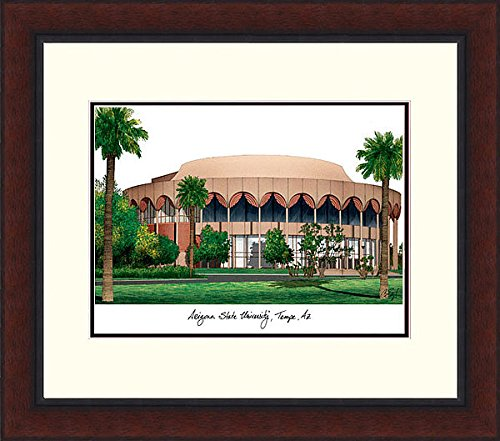 Arizona Lithograph University Framed State (Arizona State University Legacy Alumni Exquisitely Framed Imprinted Home Office Lithograph)