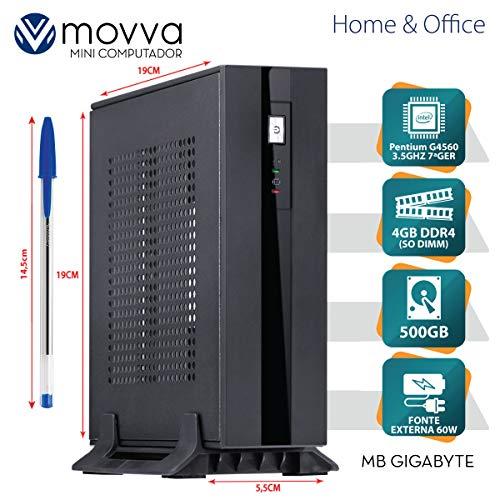 MINI COMPUTADOR LITE PENTIUM G4560 3.5GHZ 7ª GER. MEM. 4GB HD 500GB HDMI/DISPLAYPORT FONTE 60W - LINUX - MOVVA