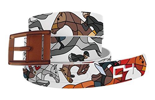 C4 Belts Horse on the Loose Jumper Belt with Khaki Buckle - Equestrian Horseback Riding Belt for Women