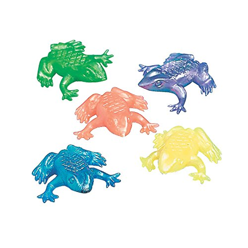 Squishy Frogs (Fun Express Pearlized Squishy Frogs Party Pack (4 Dozen))