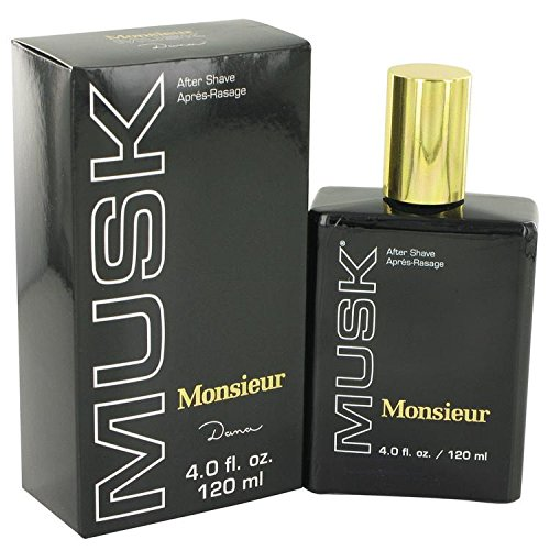 Price comparison product image Dana Monsieur Musk Aftershave for Men,  4 Ounce
