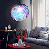 Excelvan L002 Ceiling Pendant DIY Artichoke Pinecone Shape Puzzle IQ PP Lampshade For Christmas Living Room, Bedroom, Study, Dining room (transparent colorful)
