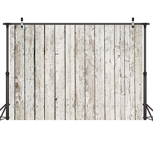 - LYWYGG 7x5ft Photography Backdrop White Wood Backdrops for Photography Wood Floor Wall Background for Photographyers CP-22