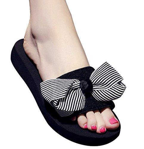Cattior Womens Pantofole Per Interni Casa Pantofole Pantofole Open Toe Sandali Neri