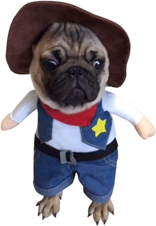 Amazon Com Nacoco Cowboy Dog Costume With Hat Dog Clothes