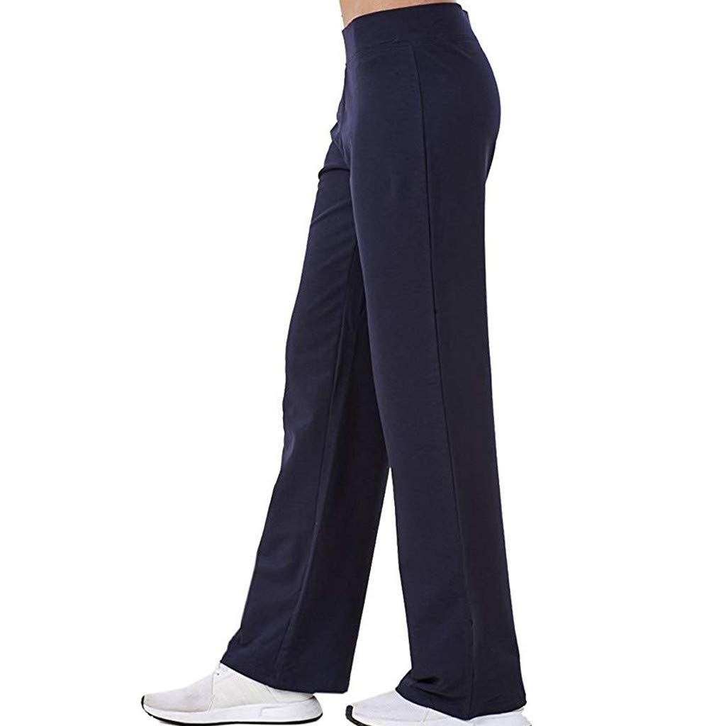 Womens Boot-Cut Yoga Pants Flare Bootleg Pants Tummy Control Workout Non See-Through Bootleg Yoga Pants